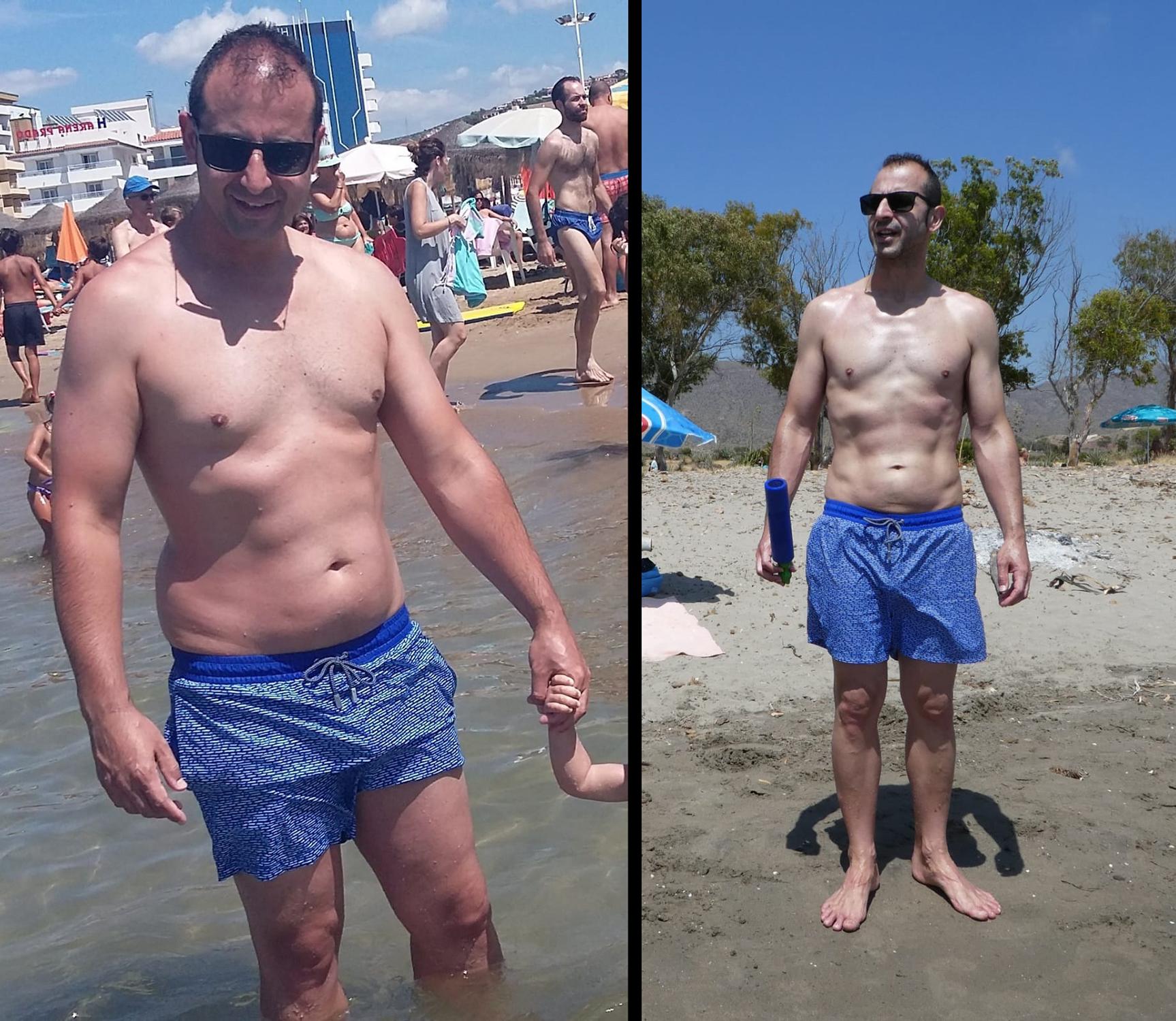 Ramón Peris antes y después